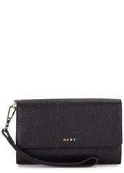 Dkny Chelsea Vintage Medium Leather Wallet Black