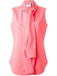 Moschino Shirt Sleeve Collar Blouse Pink And Purple