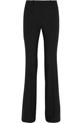 Michael Kors Collection Stretch Wool Crepe Flared Pants Black