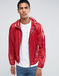 Celio Light Weight Hooded Jacket Rouge Red