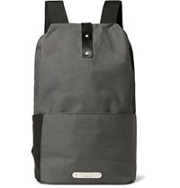 Brooks England Dalston Leather Trimmed Canvas Backpack Charcoal