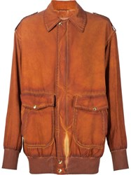 Vivienne Westwood Gold Label 'Lily' Bomber Jacket Yellow And Orange