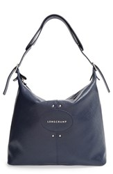 Longchamp 'Quadri' Hobo Blue