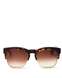 Wildfox Couture Club Fox Clubmaster Wayfarer Sunglasses 54Mm Montage Brown Gradient