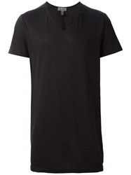Tony Cohen V Neck T Shirt Black