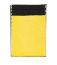 Paul Smith Accessories Slim Leather Card Holder Unisex Yellow