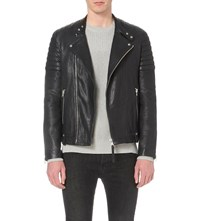 Allsaints Ink Jasper Leather Biker Jacket
