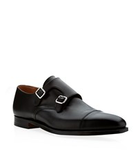 Crockett Jones Crockett And Jones Lowndes Leather Monk Shoe Male