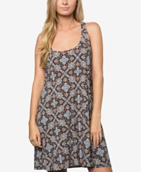 O'neill Juniors Dalton Printed Shift Dress A Macy's Exclusive Total Eclipse