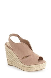 Athena Alexander Women's 'Grande' Slingback Espadrille Wedge Blush Faux Suede