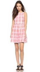 Marc By Marc Jacobs Blurred Gingham Voile Dress Piggy Pink Multi