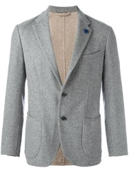 Lardini Fitted Blazer Grey