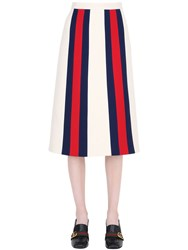 Gucci Striped Wool And Silk Cady Skirt