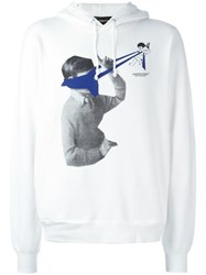 Undercover Printed Hoodie White