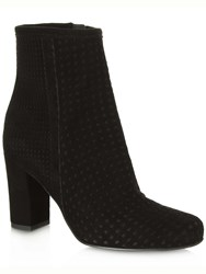 Daniel Rosemead Perforated Ankle Boots Black