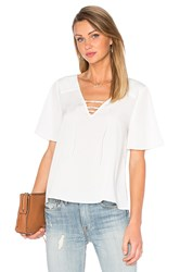 Sanctuary Kate Lace Up Top White