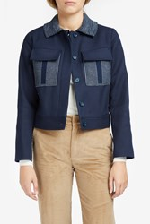 Paul Joe Sister Women S Phileas Crop Jacket Boutique1 Navy