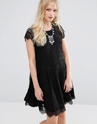 Hazel Lace Mini Dress Black