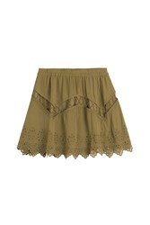 Iro Embroidered Mini Skirt Green