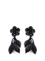 Valentino Glam Garden Party Strass Earrings Black