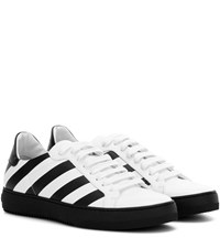 Off White Classic Diagonals Leather Sneakers White