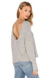 Project Social T Starlight Scoopback Sweater Gray