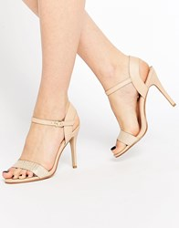 Miss Kg Imogen Barely There Heeled Sandals Beige