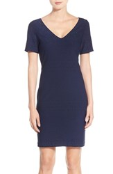 Julia Jordan Women's 'Rio' Jacquard Knit Sheath Dress Navy