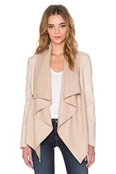 Bardot Waterfall Pu Jacket Beige