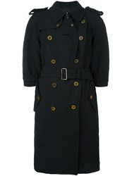 Comme Des Garcons Double Breasted Coat Black