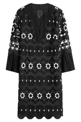 Anna Sui Embroidered Dress Black