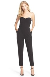 Women's Adelyn Rae Strapless Woven Jumpsuit Black