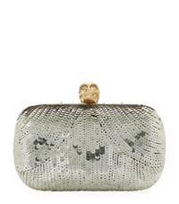 Alexander Mcqueen Sequin Embellished Clutch Female Silver