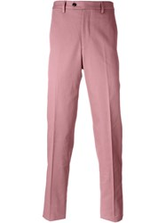 Mp Massimo Piombo Tailored Trousers Pink And Purple