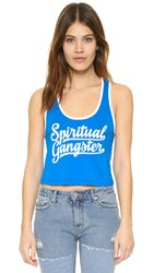 Spiritual Gangster Crop Ringer Tank Pool White