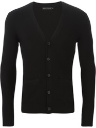 Ralph Lauren Black Label Ralph Lauren Black Ribbed Slim Fit Cardigan