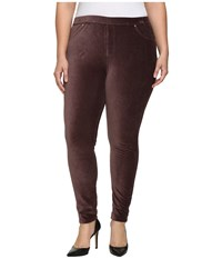 Michael Michael Kors Plus Size Stretch Corduroy Leggings Chocolate Women's Casual Pants Brown