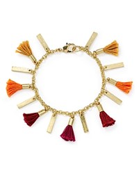 Aqua Devon Tassle Bracelet Orange