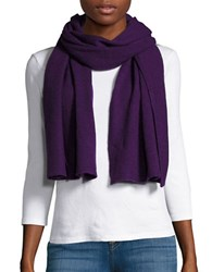 Lord And Taylor Long Cashmere Scarf Mulberry