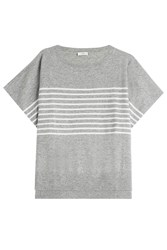 Closed Cashmere Striped Knit Top Grey