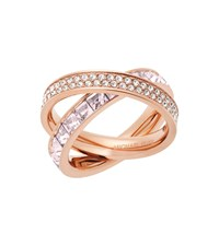 Michael Kors Pave Rose Gold Tone Eternity Ring