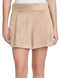1.State Faux Suede Shorts Cashew