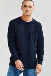 Neuw Cable Knit Sweater Navy