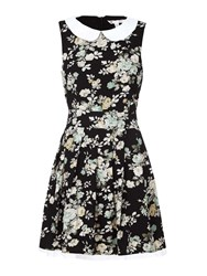 Yumi Floral Print Day Dress Black