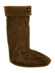 Barbour Fleece Wellington Logo Sock Olive