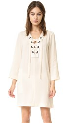 Bcbgmaxazria Lace Up Tunic Cream