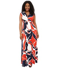Rachel Pally Plus Plus Size Long Sleeve Caftan Mod Print Women's Dress Multi