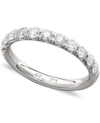 Macy's Pave Diamond Band Ring In 14K White Gold 3 4 Ct. T.W.