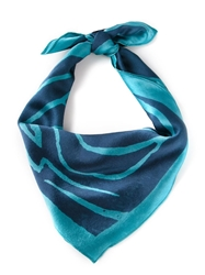 Kelly Wearstler 'Graffito' Scarf Blue