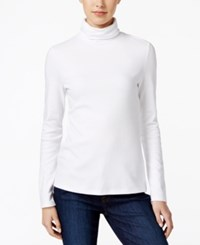 Charter Club Turtleneck Top Only At Macy's Bright White